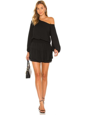 Черное платье с подкладкой Krisa