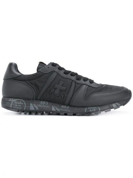 Нейлоновые черные кроссовки с заплатками на шнуровке Premiata