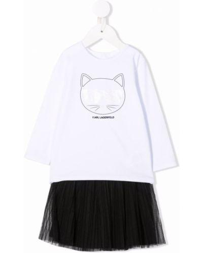 Długa spódnica tiulowa - biała Karl Lagerfeld Kids