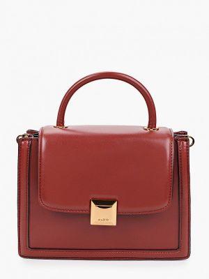 Кожаная коричневая сумка Aldo