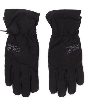 Skórzany rękawiczki czarny wysoki Jack Wolfskin