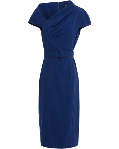 Плиссированное платье Badgley Mischka