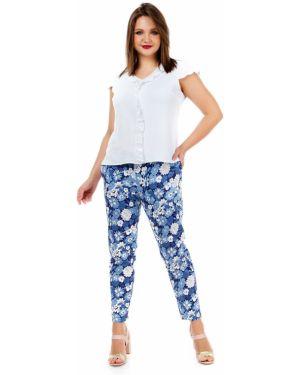 Летние брюки с поясом с карманами Liza Fashion