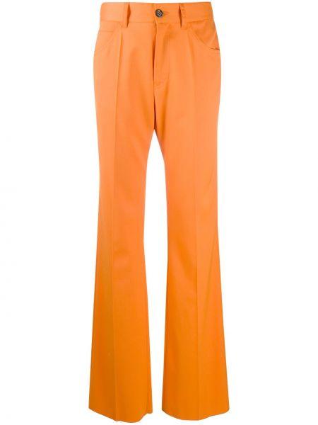 Prosto klasyczny wełniany klasyczne spodnie z paskiem Mm6 Maison Margiela