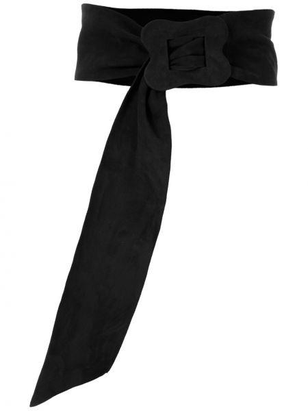 Ремень черный винтажный Sarah Chofakian