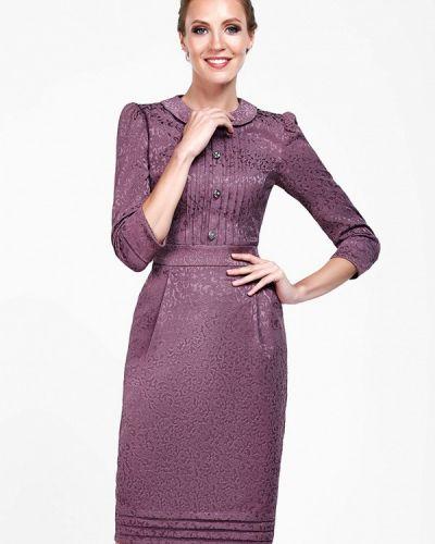 Платье осеннее фиолетовый Alisia Fiori