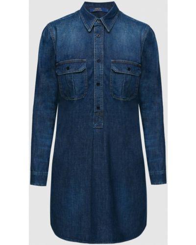 Джинсовое платье миди - синее Ralph Lauren