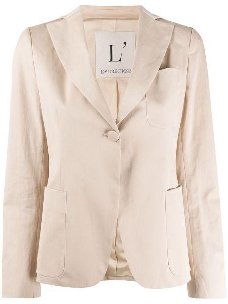 Приталенный пиджак с карманами на пуговицах L'autre Chose