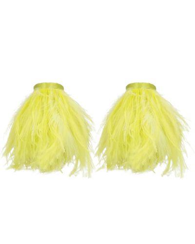 Żółte kolczyki sztyfty The Attico