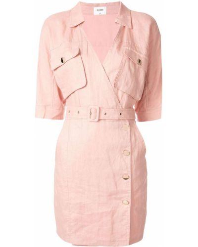 Платье мини розовое на пуговицах Suboo