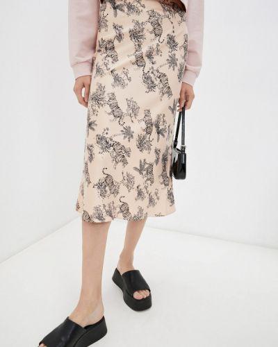 Бежевая зимняя юбка Elena Andriadi