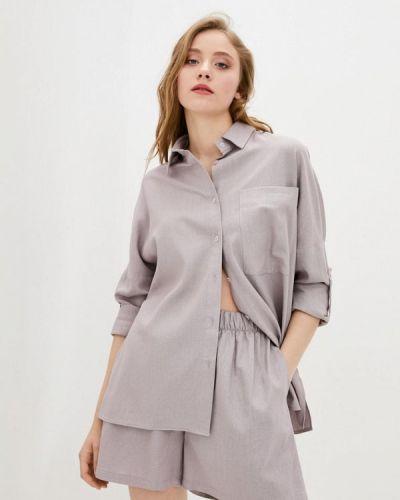 Фиолетовая блузка с длинными рукавами 7arrows