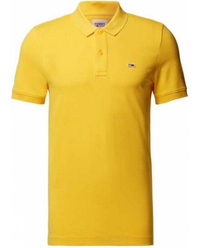 Żółta polo bawełniana Tommy Jeans