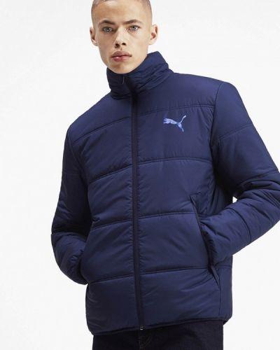 Утепленная куртка осенний синяя Puma