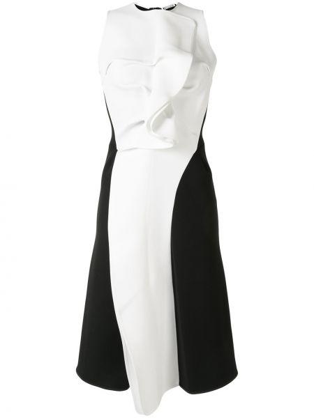 Czarna sukienka midi bez rękawów Maticevski