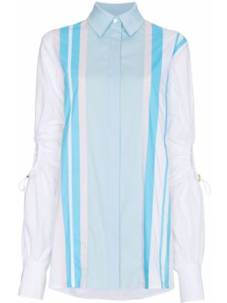 Niebieska klasyczna koszula bawełniana z długimi rękawami Peter Pilotto
