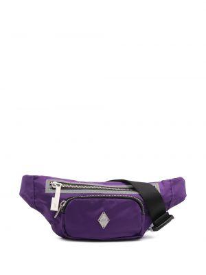 Фиолетовая поясная сумка металлическая на молнии A-cold-wall*