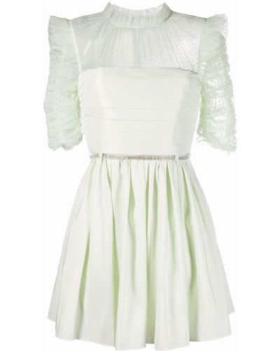 Зеленое платье из фатина Self-portrait