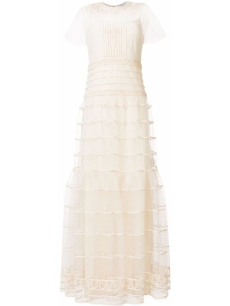 Платье с оборками Redvalentino