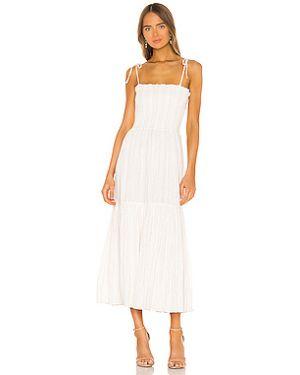 Платье через плечо с люрексом Joie
