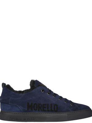 Синие кеды замшевые Frankie Morello