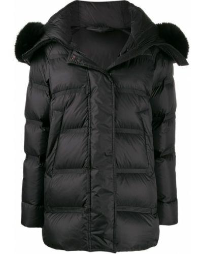 Пальто с капюшоном длинное био пух Peuterey