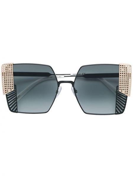 Муслиновые черные солнцезащитные очки квадратные Oxydo