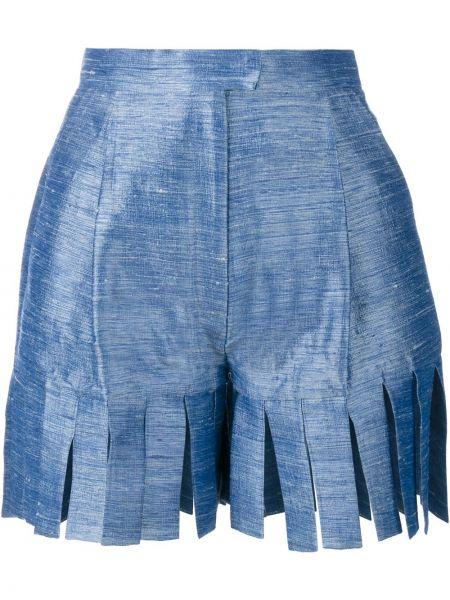 Однобортные шорты с бахромой Tata Naka