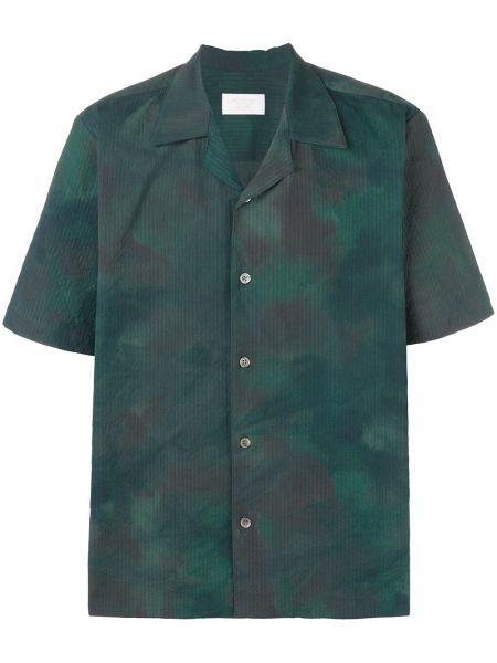Zielona koszula krótki rękaw bawełniana Aime Leon Dore