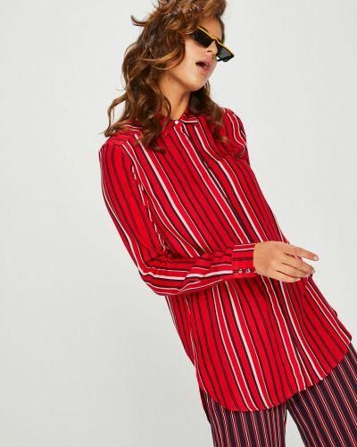Блузка с длинным рукавом в полоску из вискозы Answear