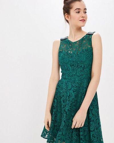 Вечернее платье весеннее зеленый Naf Naf