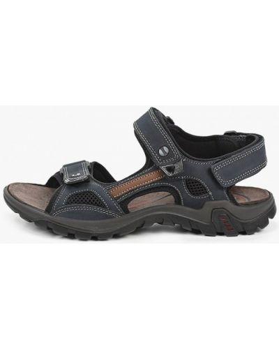 Синие кожаные сандалии Salamander
