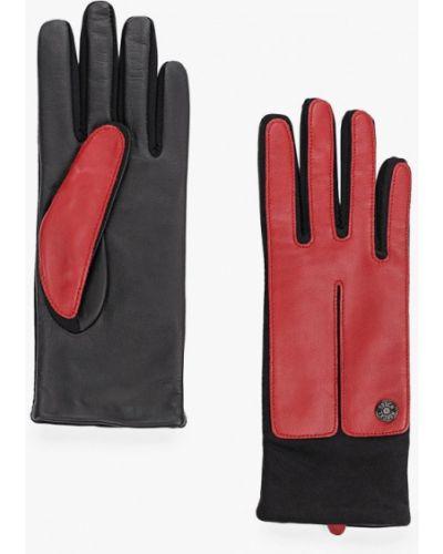Кожаные перчатки красный Roeckl