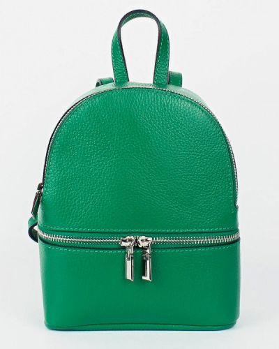 Кожаный рюкзак - зеленый Bella Bertucci