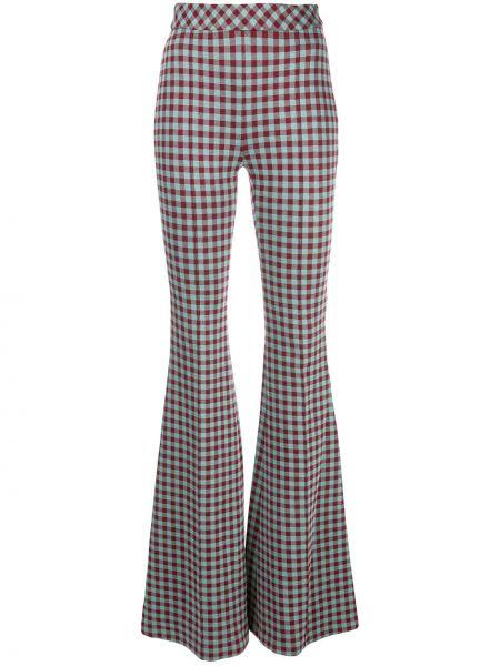 Красные нейлоновые расклешенные брюки с высокой посадкой Rosetta Getty
