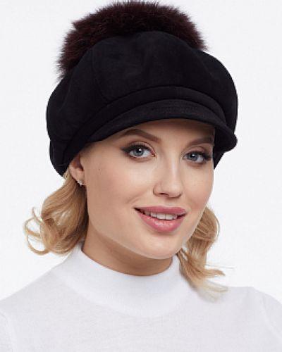 Шерстяная кепка - черная каляев