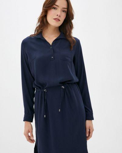 Расклешенное свободное синее платье Finn Flare