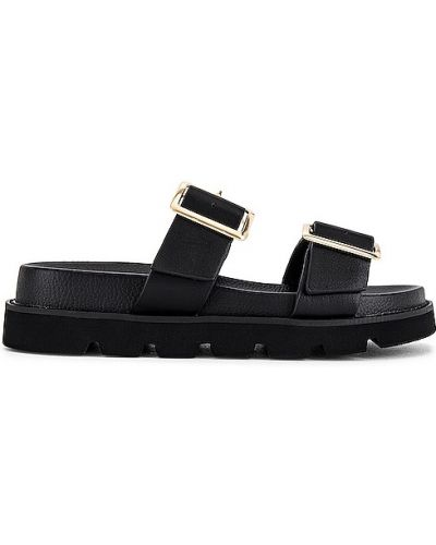 Czarne sandały na obcasie Raye