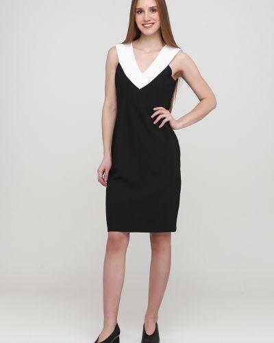 Черное платье без рукавов из плотной ткани Kookai
