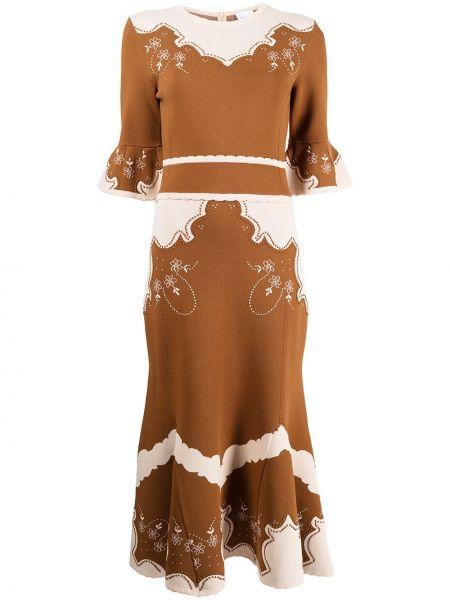 Платье миди - коричневое Alice Mccall