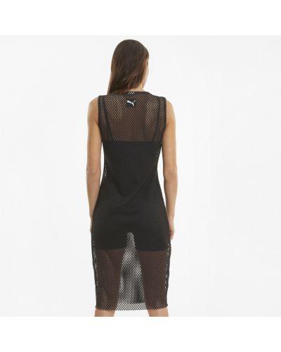 Черное платье с вырезом Puma
