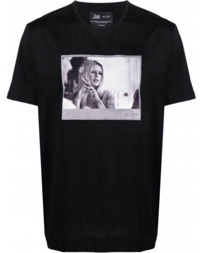 T-shirt bawełniany z printem krótki rękaw Limitato