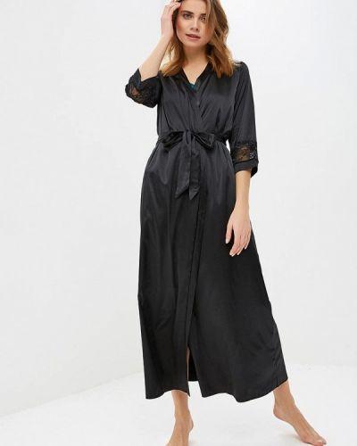 Домашний халат - черный дефиле