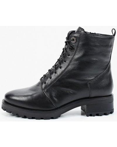 Черные кожаные ботинки Francesco Donni