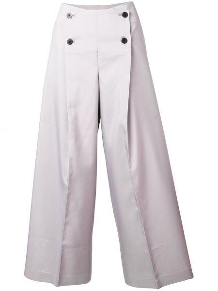 Сиреневые укороченные брюки с поясом на пуговицах 132 5. Issey Miyake