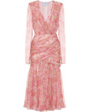 Розовое платье миди Giambattista Valli
