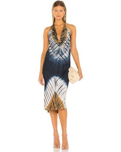 Платье атласное - синее Young Fabulous & Broke