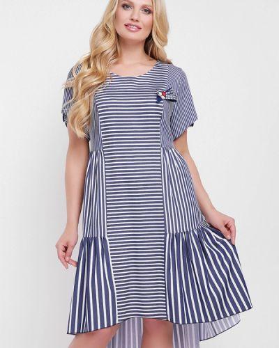 Платье весеннее синее Vlavi
