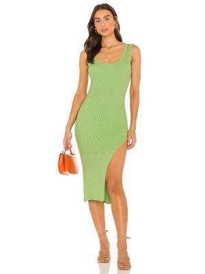 Sukienka midi prążkowana - zielona Lovers + Friends