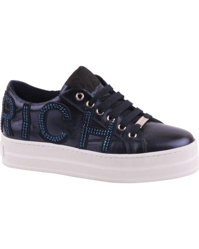 Синие кроссовки на платформе Richmond